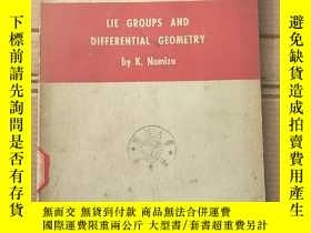 二手書博民逛書店lie罕見groups and differential geometry(P1534)Y173412