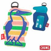 CHUMS 日本 Booby 造型悠遊卡夾 彩色條紋 CH602012C001