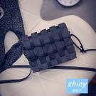 【P093】shiny藍格子-復古女包.新款日韓版簡約單肩斜挎小方包