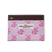 《Marimo》迪士尼愛麗絲皮革車票夾(妙妙貓)funbox生活用品_FT76593