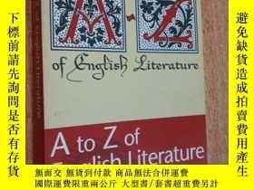 二手書博民逛書店A罕見to Z of English Literature (R
