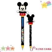 【京之物語】現貨-日本迪士尼米奇搖頭造型黑色圓珠筆