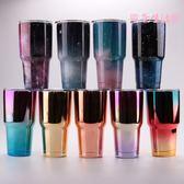 歐美新款冰冰杯30oz保溫杯304雙層不銹鋼大容量UV星空杯保溫保冷保冰杯 LXY281【歐爸生活館】
