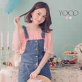 東京著衣【YOCO】性感甜美蕾絲滾邊一字領上衣-XS(6013401)