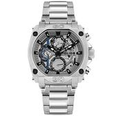 【台南 時代鐘錶 POLICE】義式潮流 Norwood 三眼日期腕錶 15472JS-13M 銀/灰 45mm