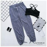 Catworld 側開口綁結瑜珈運動褲【12001709】‧S/M/L