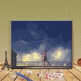 diy數字油畫 數字油畫動漫自繪填色畫客廳成人減壓手工裝飾手繪填充油彩畫 - 歐美韓熱銷