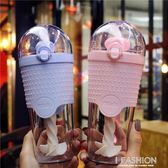 水杯塑料隨手杯吸管杯成人攪拌杯創意大號韓國手動個性清新檸檬杯 Ifashion