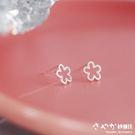 【Sayaka紗彌佳】925純銀森林系女孩磨砂可愛花朵造型耳環