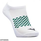 Mizuno Socks [32TX920201] 男襪 運動 慢跑 路跑 厚底 裸襪 白綠 25-27cm