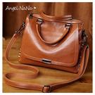 手提包-復古油蠟皮大容量鉚釘波士頓包斜背包 (SBA0291) AngelNaNa