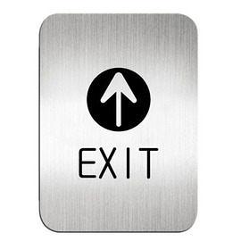 迪多Deflect-o 鋁質方形貼牌-英文EXIT出口指示 612210S