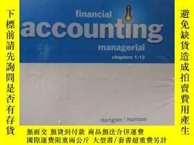 二手書博民逛書店financial罕見accounting managerial chapters 1-13Y223356 H
