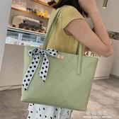 大包包女包大容量單肩手提包時尚韓版菱格托特包女士包袋 完美情人精品館