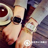 手錶 韓版簡約個性復古皮帶情侶手錶雙面鏤空防水潮流男女