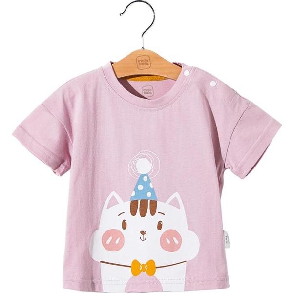 t恤純棉夏裝兒童卡通短袖男女寶寶可愛半袖上衣體恤 茱莉亞