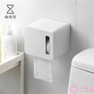 壁掛式捲紙巾盒浴室廁所抽紙盒簡約防水免打孔捲紙筒66083