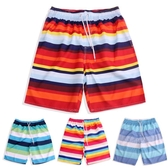 海灘褲 泳褲 沙灘褲速乾海邊寬鬆平角泳褲度假大褲衩五分短褲 免運