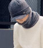 毛帽 帽子男冬天 針織套頭帽時尚韓版套頭帽加絨加厚男士毛線帽子冬季  琉璃美衣