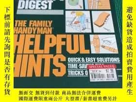 二手書博民逛書店the罕見family handyman helpful hints 家裏的勤雜工提供了有用的線索Y30456