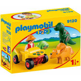 playmobil 123series 小探險家與恐龍_PM09120