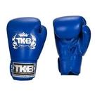 『VENUM旗艦館』6oz TOP KING 經典款 泰國名牌拳擊手套 真皮手工拳套 TKB 素色拳套 CS12 藍色