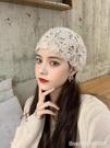 頭巾帽 毛線帽子女秋冬季新款保暖包頭月子帽韓版時尚潮鏤空手工針織帽子 星河光年