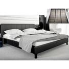 皮床 布床架SB-577-5 保羅5尺黑皮雙人床(不含床墊及床上用品)【大眾家居舘】