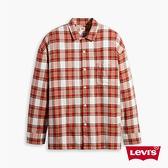 Levis 男款 格紋襯衫 / Oversize寬鬆版型 / 復古學院風