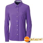 Wildland 荒野 女 四彈格子布抗UV長袖襯衫 彈性纖維/細格紋/薄長袖/長袖襯衫/格子襯衫 0A31205-53紫色