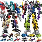 兼容積木變形機器人金剛6益智7拼裝兒童玩具男孩子8-10歲拼圖 滿天星