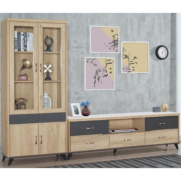 電視櫃 FB-687-21 克雷納漂流橡木色8.7尺電視櫃【大眾家居舘】