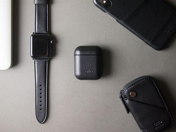 Alto AirPods 皮革保護套 - 渡鴉黑