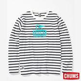 CHUMS 日本 男 Booby 長袖T恤 藍白條紋 CH011321W011