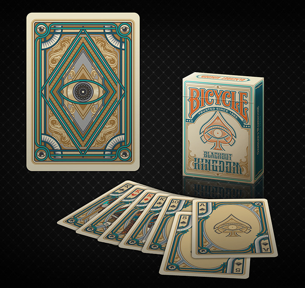 【USPCC 撲克】Bicycle blackout kingdom Light Shade Playing Cards