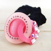 【粉紅堂 髮飾】甜美美女水鑽髮束 *粉紅色*