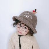 寶寶帽子秋冬兒童保暖漁夫帽加厚羊羔毛女童公主盆帽可愛男童帽子