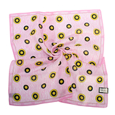 VERSACE太陽圖騰純棉手帕領巾(粉紅色)989017-8