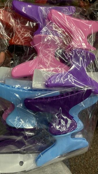 美髮大鯊魚夾-二入髮夾.哈仔(D304)彩色不挑色[27068]