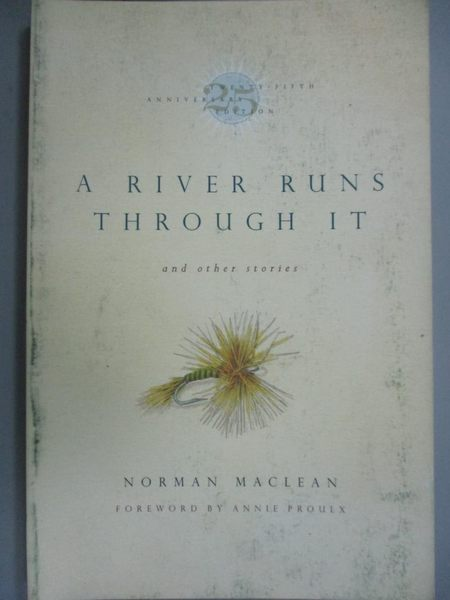 【書寶二手書T1/原文小說_LOP】A River Runs Through It_Norman MacLean