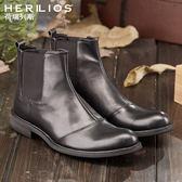 切爾西靴中筒馬丁靴男靴子冬季男鞋英倫高筒皮鞋短靴加絨復古軍靴【全館免運】