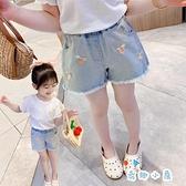 女童牛仔短褲夏季薄款時尚韓版休閒外穿【奇趣小屋】