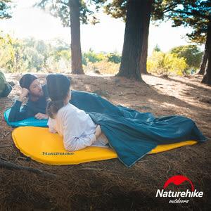 Naturehike C034輕巧便攜款 單人自動充氣睡墊 方形 黃色