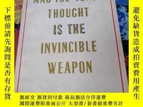二手書博民逛書店Mao罕見Tse-Tung s thought is the i