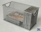 CD 收納架家居鐵網藝光盤盒大容量DVD 盒光碟盒碟片~古怪舍~