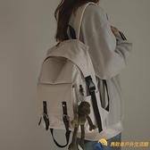 後背包學生日韓版書包森系暗黑初中生帆布雙肩包背包