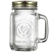 玻璃杯復古公雞杯果汁梅森杯咖啡透明創意水杯子帶蓋【寶貝開學季】