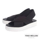 Tino Bellini 義大利進口交叉繃帶厚底涼鞋(深咖)_A63049  2016SS歐洲進口款