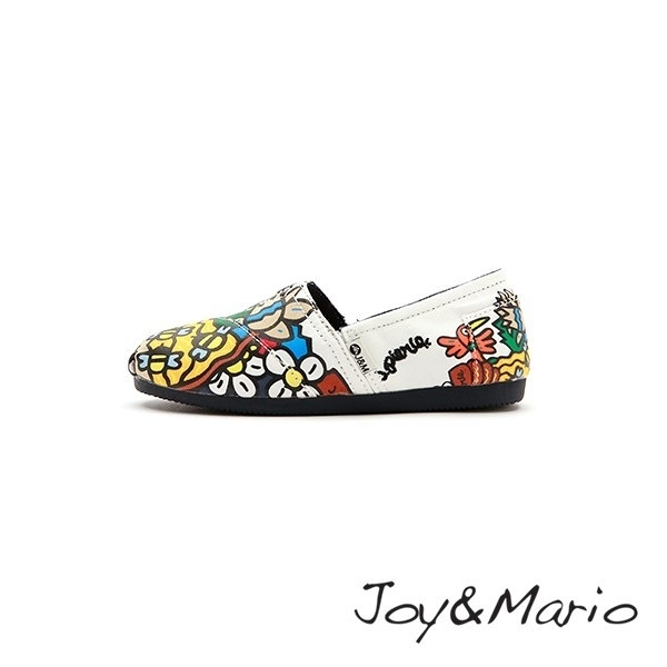 【Joy&Mario】J. Pierce 設計師款歐美塗鴉風平底童鞋 - 61813C YELLOW