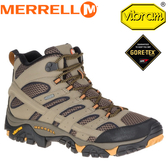 【MERRELL 美國 男款 MOAB 2 MID GORE-TEX《棕》】ML06057/Gore-Tex襪套/Vibram/防臭EVA鞋墊